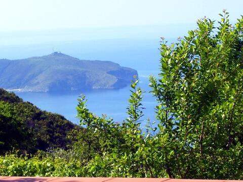 casa pallino 1 con giardino e vista golfo palinuro