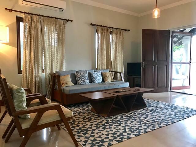 A Tastefully Furnished 3 Bedroom Villa In Siolim