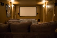 Theater with surround sound and includes Netflix and Amazon Prime
