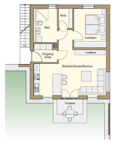 Villa Elisa - 2 Zimmerwohnung in Marktheidenfeld