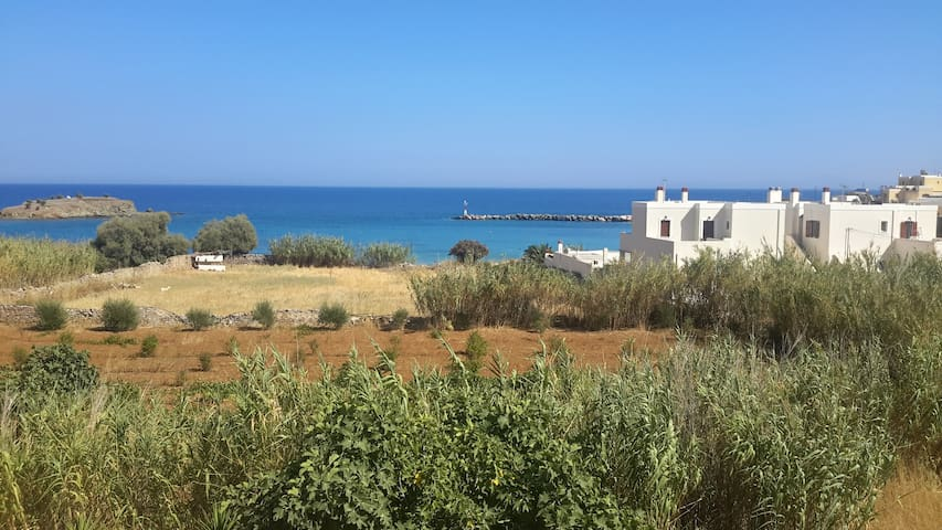 Magnificent view cycladic house 30m. from beach - Ermoupoli - House