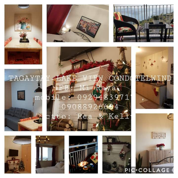 """Tagaytay LakeView Condotelwind """"COZY VINTAGE VIBE"""""""