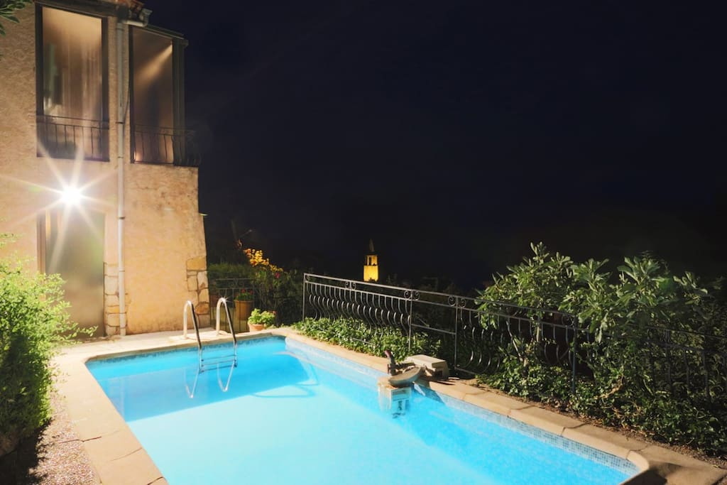 Pool view at night...
