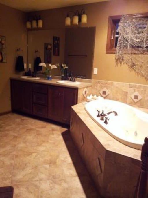 Master Bath includes a whirlpool tub
