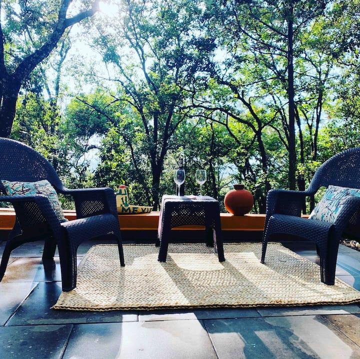 Casa en medio del bosque, mil cumbres Michoacán