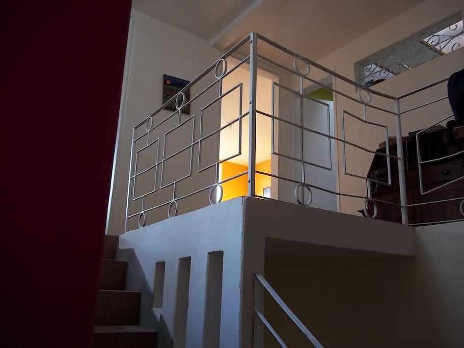 Escalera para el segundo nivel