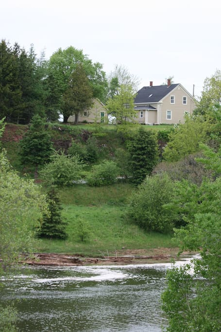 View of Steven's house from across the river