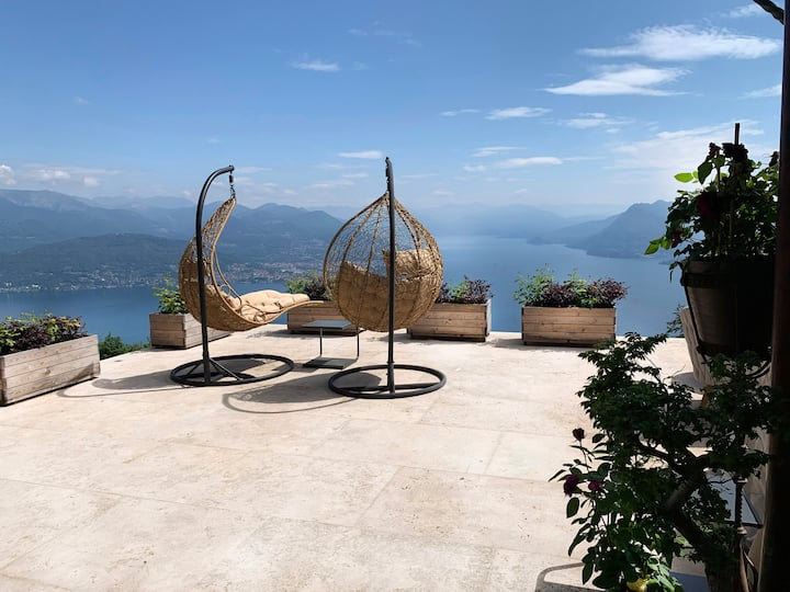 SPA-RETREAT with DREAM VIEW to the Lake Maggiore