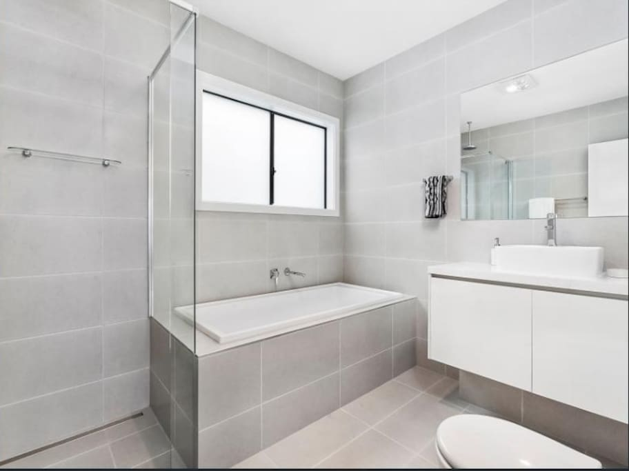 Large Bathroom with Stand alone Shower