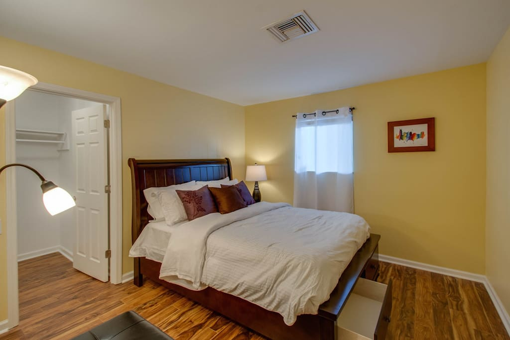 Comfortable, cozy bedroom to unwind in after a day in the city!