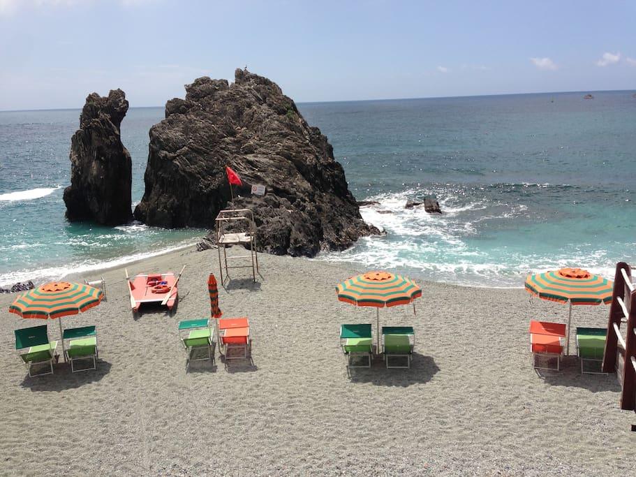 The beautiful Beach n Monterosso