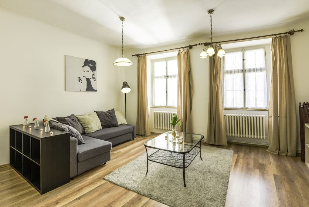 prague apartment-pragueforyou-living area