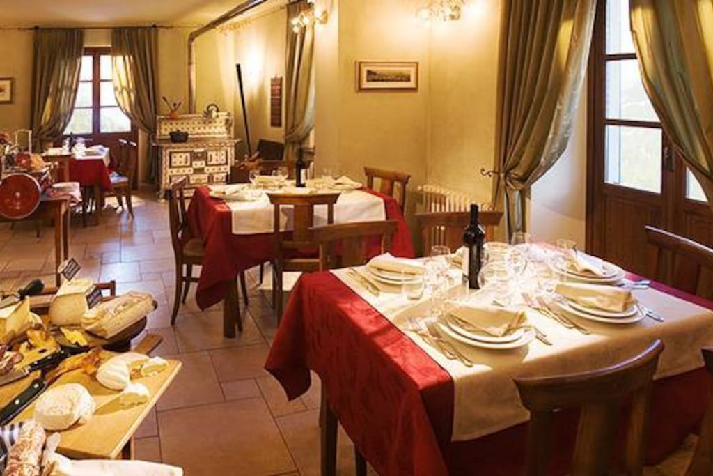 La sala del ristorante