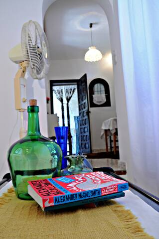 The living-room is equipped with a powerful fan during summertime and a mobile gas-stove during the colder season (not included in the price). We have no air-condition in this apartment.
