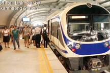 Airport Rail Link is not too far away. Rides from Airport is only 30 baht or US$0.80.