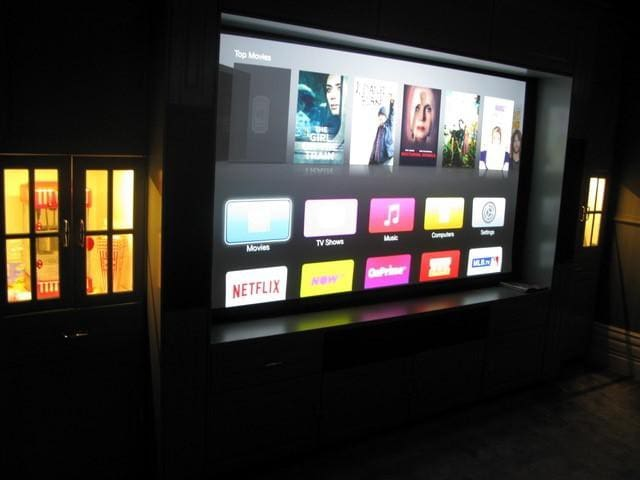 """Fully Automated Home Cinema with 102"""" HD Screen"""