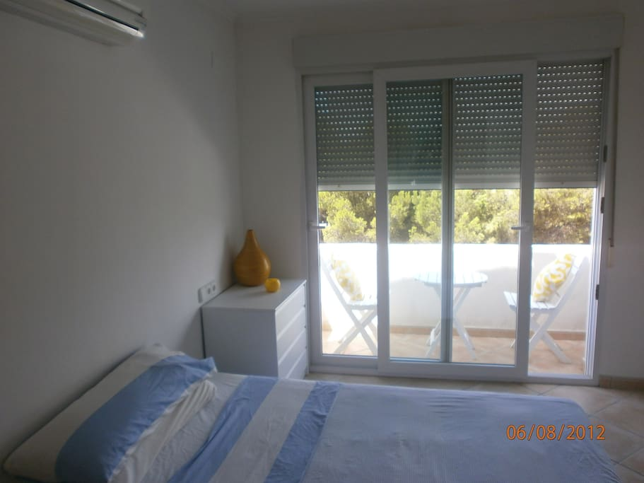 Bedroom 2 with patio
