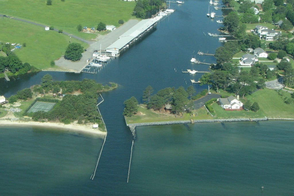 Aerial View of Marina from the Chesapeake Bay