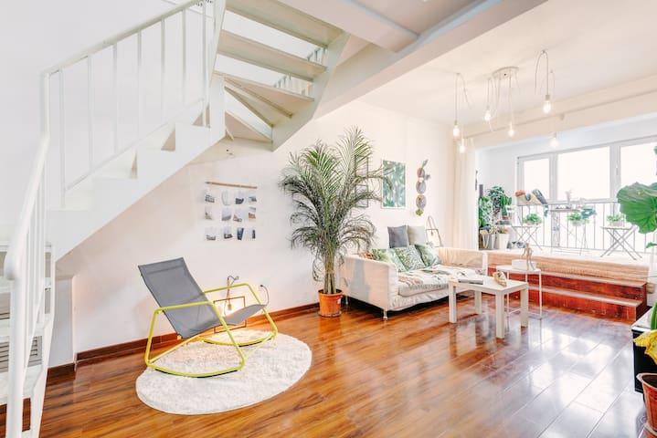 【我家有个植物园】大两居室复式楼 - Beijing - Lägenhet
