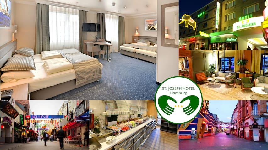 Kiez - St. Pauli - Quadruple Room & Breakfast