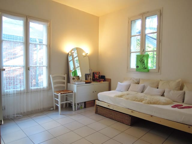 Cute studio at the Loire's edge / Patio & Garden - Tours - Huoneisto