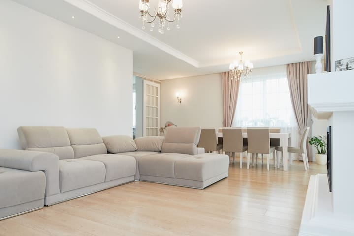 Great room in new suburb house - Vilnius District Municipality - 獨棟