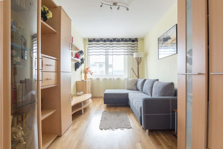 Third dormitory with extendable couch
