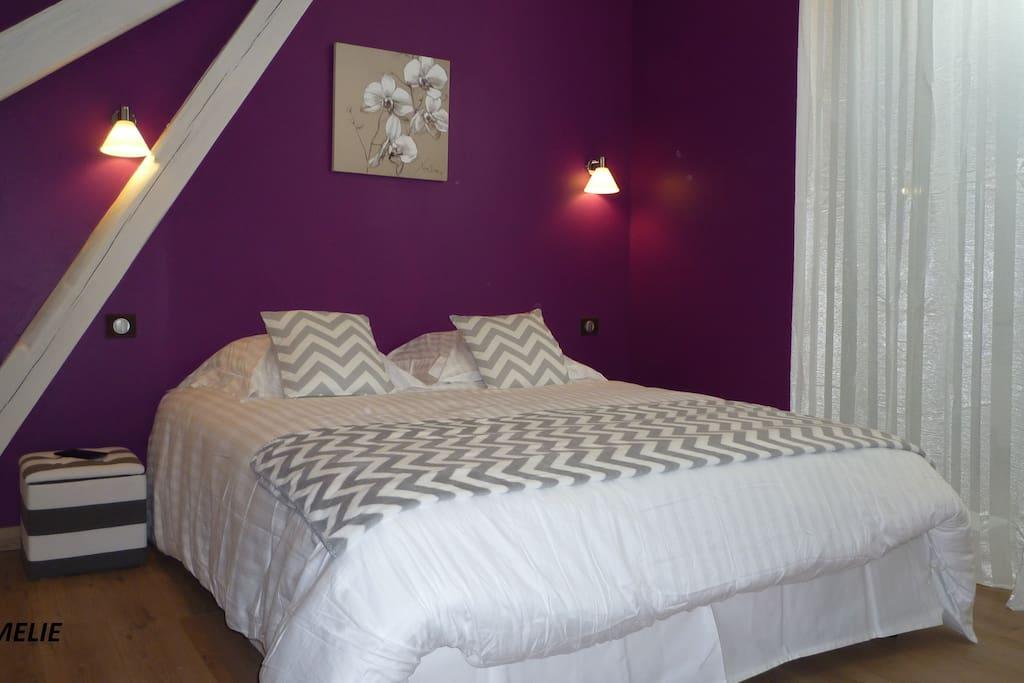 Chambre à coucher lit 160x200