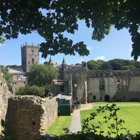 St Davids Cathedral is just a short stroll away