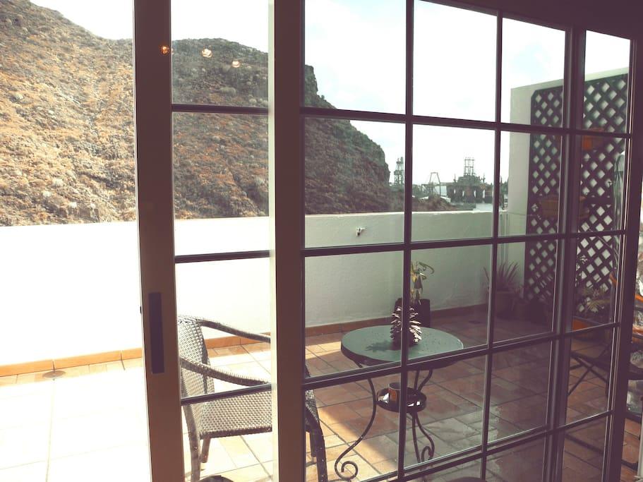 Sunny terrace