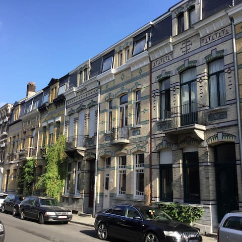 Gorgeous façades on the other side of the street.