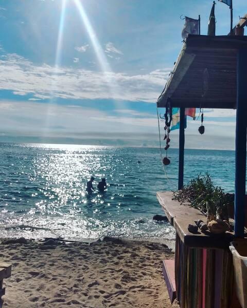 Alojamiento a la orilla del mar Caribe