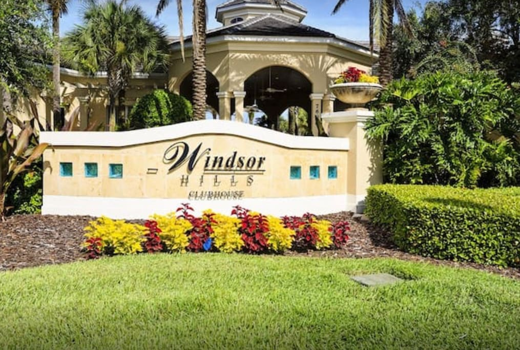 The townhouse is in this Windshore Hill resort in N. Old Lake rd, Kissimmee Florida, the club house with full inside is included