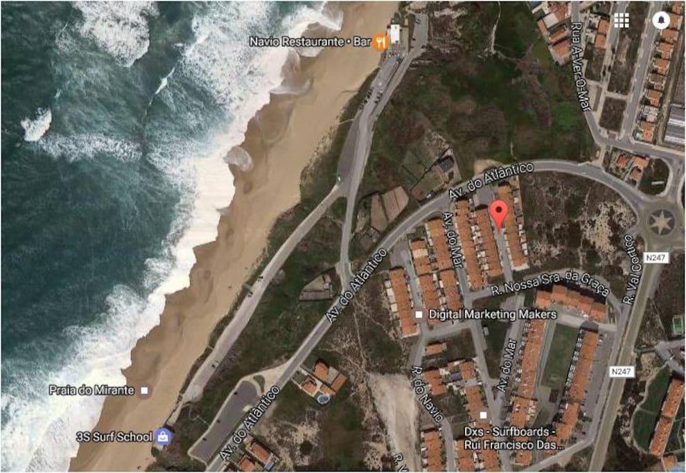 Localização - a 6 min a pé da praia