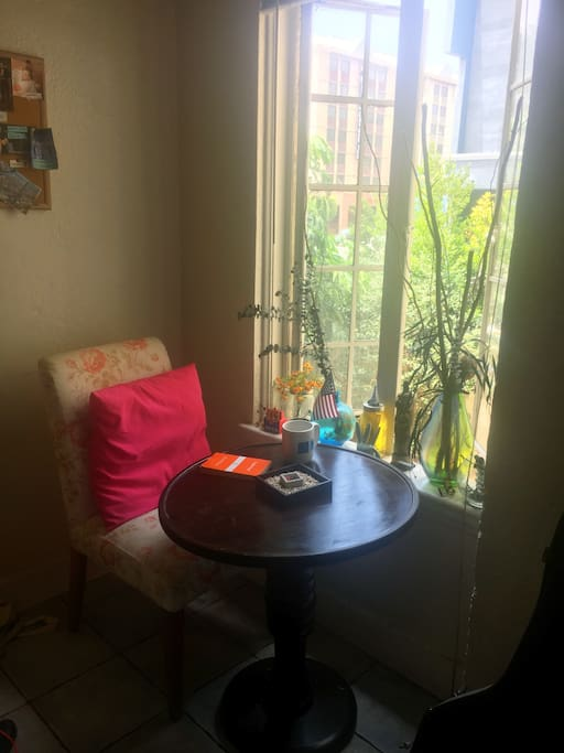 Cozy breakfast table