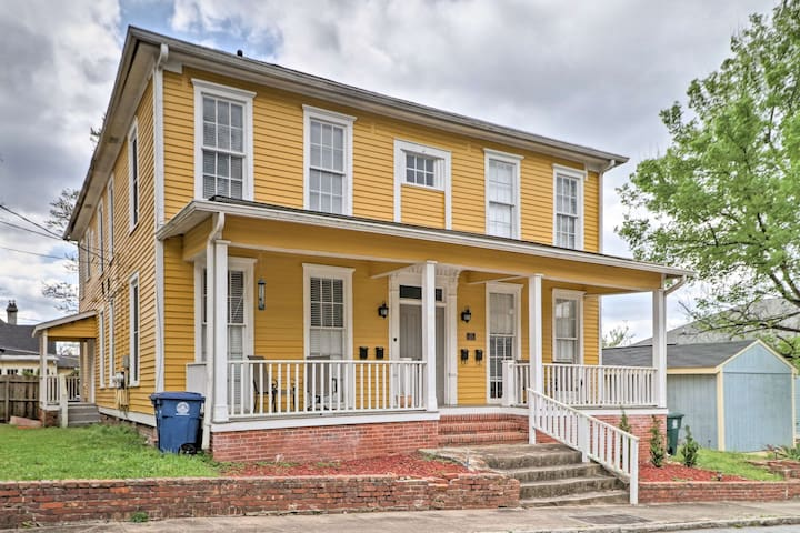 Charming Apartment w/ Macon Views <1 Mi to Mercer!