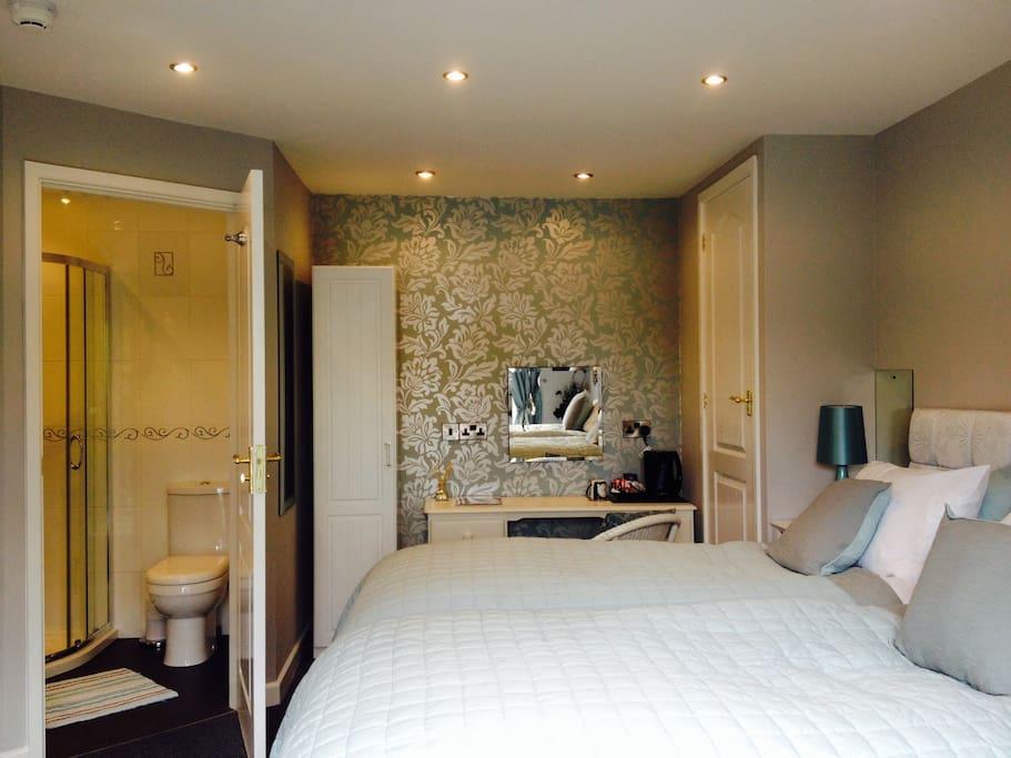 Luxury twin room on the ground floor with en-suite.