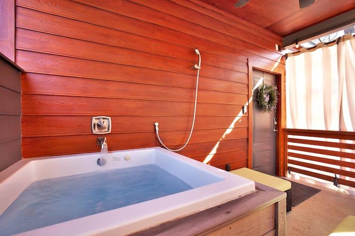 Primrose Bungalow:  Outdoor tub, pet friendly