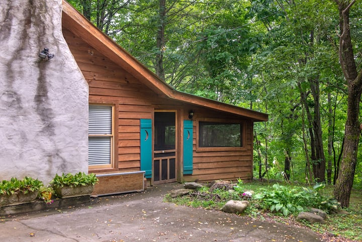 Secluded cabin in the woods w/ private hot tub & outdoor fire pit