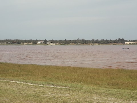 House on the pink lake