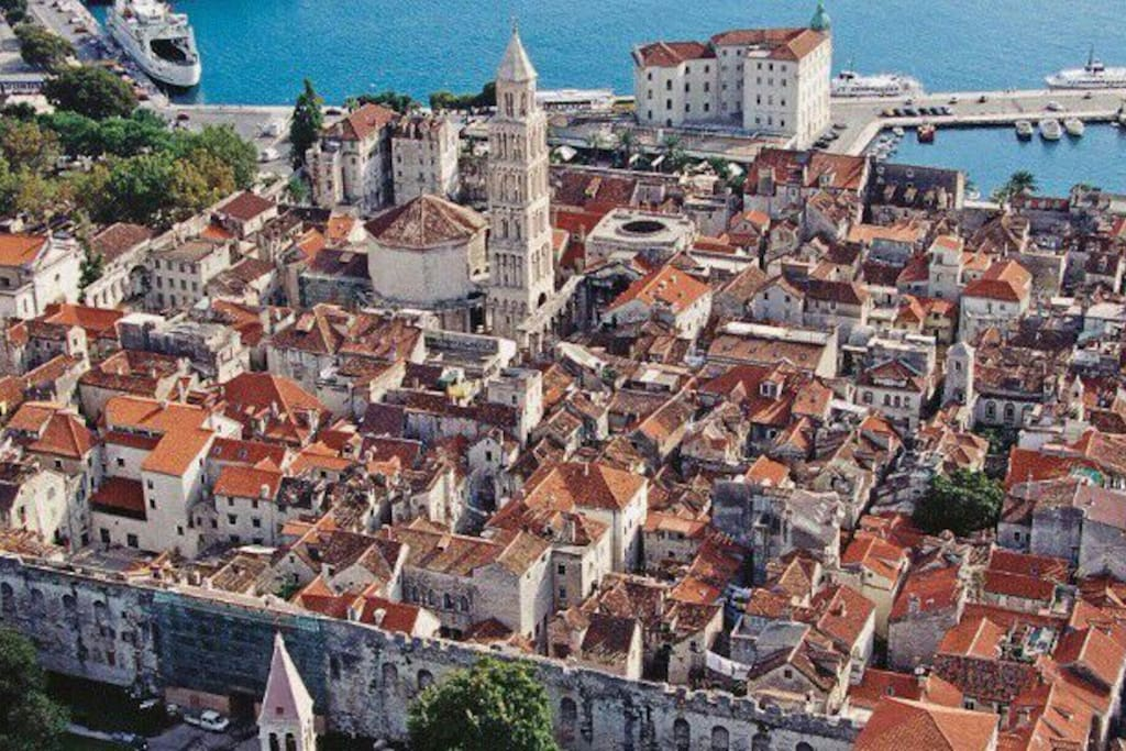 Split - Diocletians Palace from above