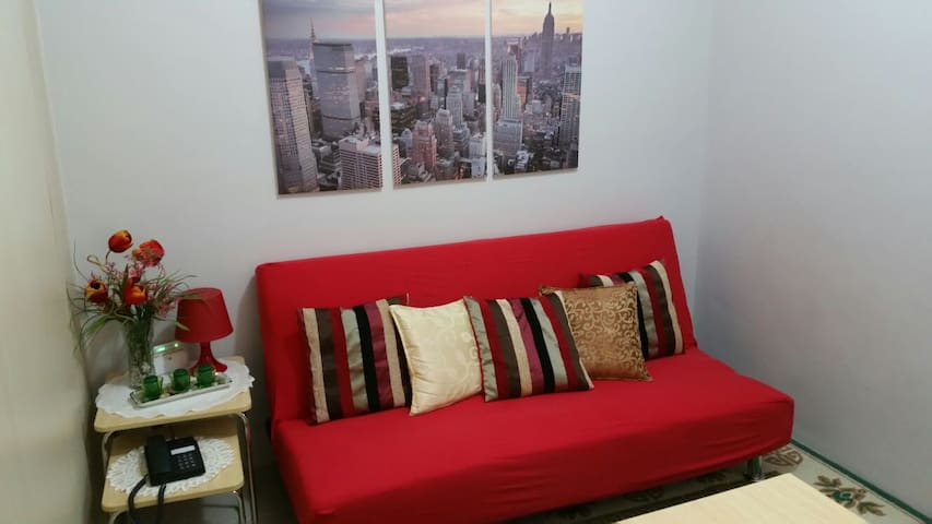 Fully Furnished 1BR Beside Mall - Quezon City - Flat