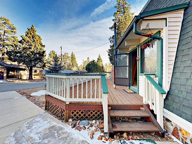 Take in the fresh mountain air from the front deck.