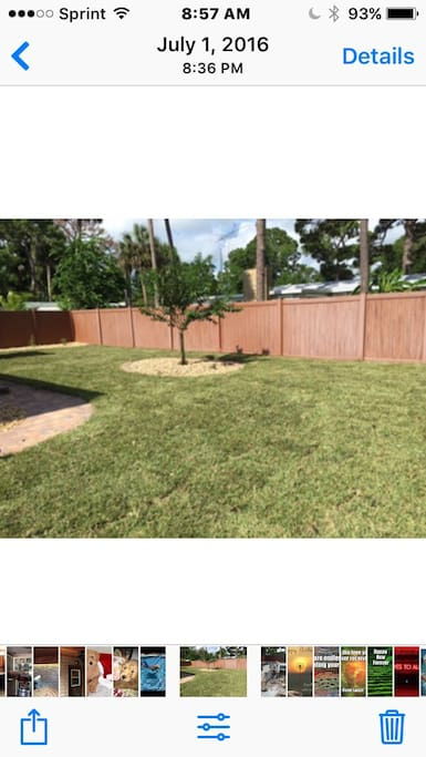 Big yard with privacy fence!
