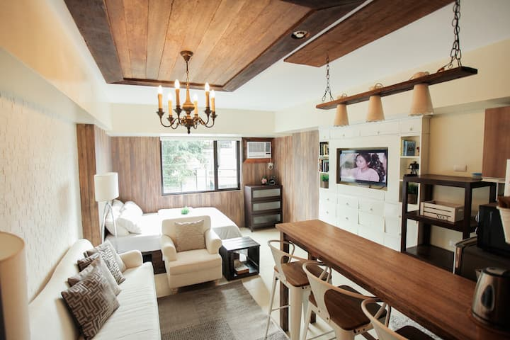 Modern Rustic Executive Studio at Serin Tagaytay