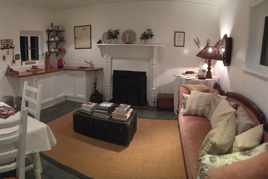 Cottage sitting room & kitchenette