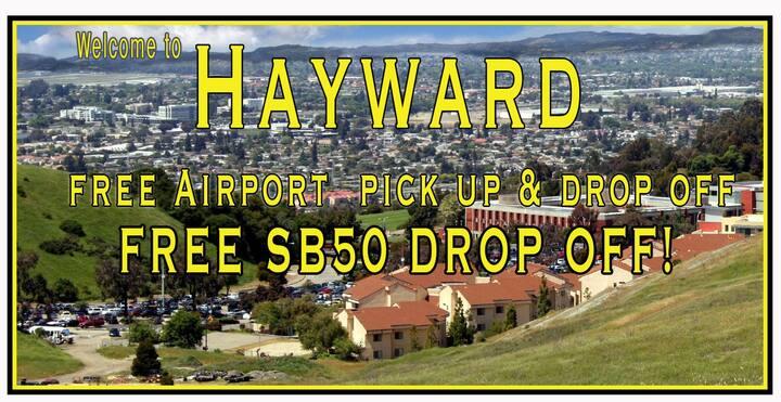 Free Airport pick up  SB50 drop off