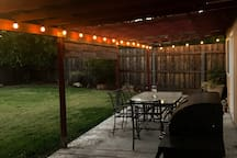 Romantic outdoor lighting for the evenings