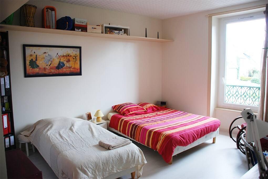 La chambre, avec beaucoup d'espace
