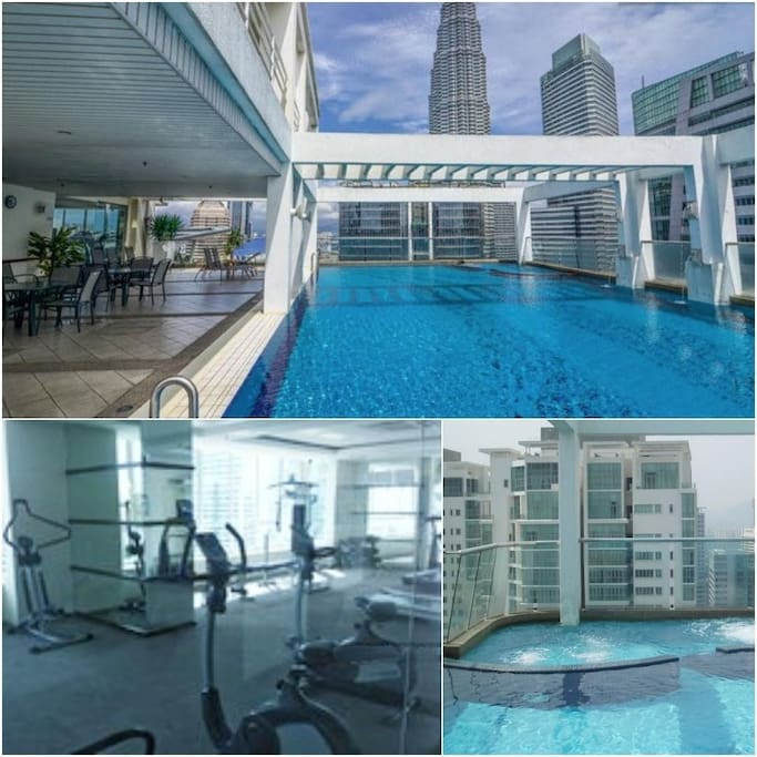 Skypool, sauna, gym